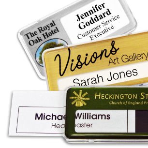 Reusable name badges | www.namebadgesinternational.ae