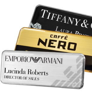 The professional choice in personalised name badges | www.namebadgesinternational.ae